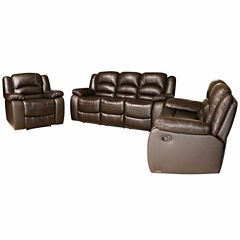 Emma Leather Sofa + Loveseat Set