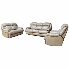 Natalie Leather Sofa + Loveseat Set
