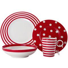 Red Vanilla Freshness Dinnerware Collection