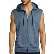 Xersion™ Sleeveless Training Fleece Full-Zip Shirt