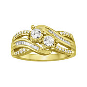 Two Forever™ 1/2 CT. T.W. Diamond 10K Yellow Gold Ring