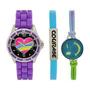 Total Girl Girls Purple Watch Boxed Set-Ttg1002jc