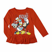Disney By Okie Dokie Girls Minnie Mouse Graphic T-Shirt-Toddler