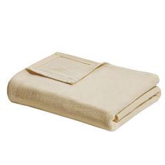 Premier Comfort Freshspun Basketweave Cotton Blanket