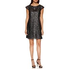 a.n.a Short Sleeve Shift Dress-Talls