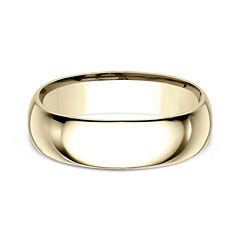 Mens 18K Yellow Gold 7MM Comfort-Fit Wedding Band