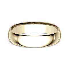 Mens 10K Yellow Gold 5MM Comfort-Fit Wedding Band
