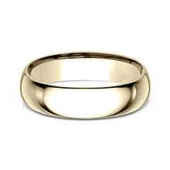 Mens10K Yellow Gold 6MM Comfort-Fit Wedding Band