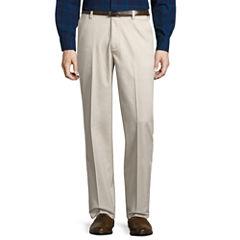St. John's Bay® Stretch Iron Free Expandable Waist Flat Front Pant