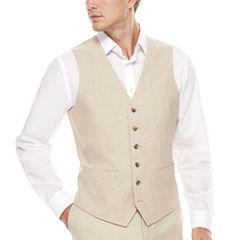 Stafford Linen Cotton Sand Vest-Classic