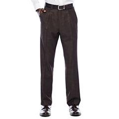Steve Harvey® Brown Shantung Pleated Pants