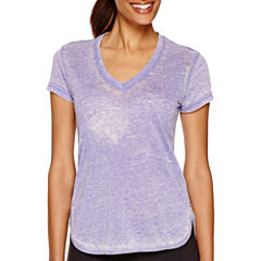 Reebok® Studio Favorites Burnout T-Shirt