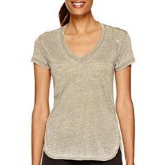 Reebok® Studio Favorites Burnout T-Shirt