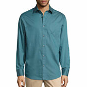 Claiborne Moden Fashion Button-Front Woven-Big and Tall