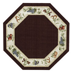 Fresh Fruit Washable Octagonal Rug