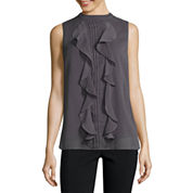 Alyx Sleeveless Mock Neck Blouse