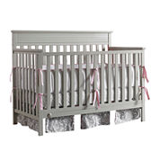 Fisher-Price Newbury Convertible Crib - Misty Grey - Free Mattress with Purchase, See Product Page for Details