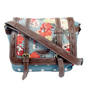 Union Bay Floral Polka Dot Messenger Bag