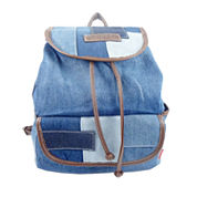 Union Bay Denim Colorblock Patched Messenger Bag