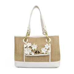 Liz Claiborne Debbie Applique Shopper Shoulder Bag