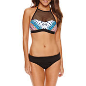 A.N.A High Neck Swimsuit Top or Fold Over Hipster Bottom