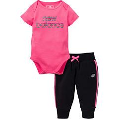 New Balance 2-pc. Bodysuit Set-Baby Girls