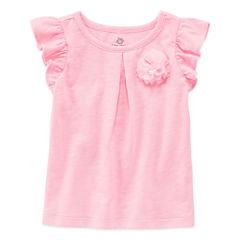 Okie Dokie Short Sleeve T-Shirt-Baby Girls