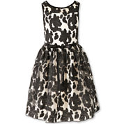 Speechless Floral Belted Fit Flare Party Dress - Big Kid