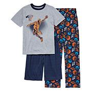 Arizona Boys 3-pc. Short Sleeve Kids Pajama Set-Big Kid