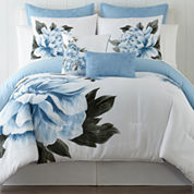 Blue Floral 5-pc. Comforter Set & Accessories