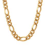Mens Yellow Stainless Steel Figaro Chain