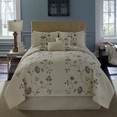 Flowering Vine Embroidered Quilt & Accessories