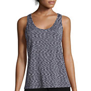 Inspired Hearts Space Dye X-Back Tank Top - Juniors
