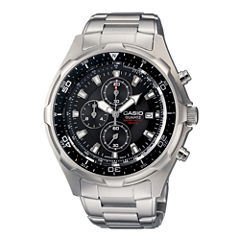 Casio® Mens Stainless Steel Chronograph Watch AMW330D-1AV