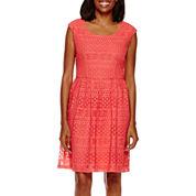 Ronni Nicole® Sleeveless Lace A-Line Dress
