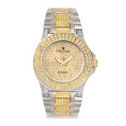 Croton Mens Crystal-Accent Two-Tone Stainless Steel Watch