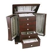 Espresso Contemporary 4-Drawer Jewelry Box