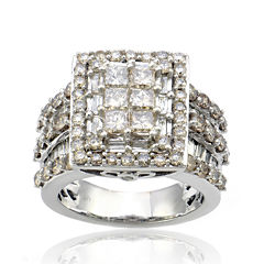 LIMITED QUANTITIES 4 CT. T.W. Diamond 10K White Gold Ring
