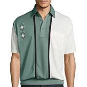 Palmland® Striped Banded-Hem Polo