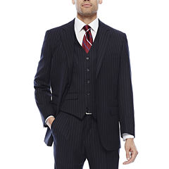 Steve Harvey® Navy Striped Suit Separates