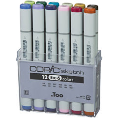 Copic 12-pc. Sketch Marker Set—Ex-6