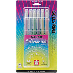 Gelly Roll Stardust Bold Point Pens – Galaxy 6 Pack