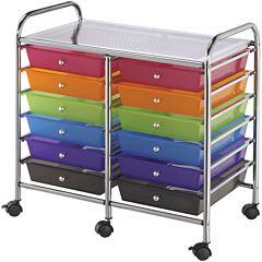12-Drawer Double Storage Cart