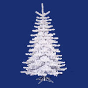 12' Pre-Lit Crystal White Artificial Christmas Tree with Clear Lights