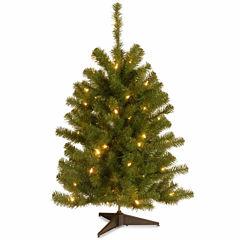 National Tree Co. 3 Foot Eastern Spruce Pre-Lit Christmas Tree