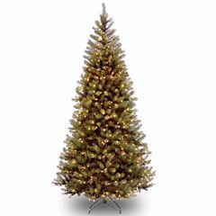 National Tree Co. 7 1/2 Foot Aspen Spruce Hinged Pre-Lit Christmas Tree