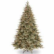 National Tree Co 7 1/2 Feet Frost Artic Spruce Hinged Pre-Lit Christmas Tree