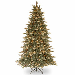 National Tree Co. 7 1/2 Foot Copenhagen Blue Spruce Hinged Pre-Lit Christmas Tree