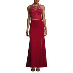 My Michelle Sleeveless Beaded Embellished Dress Set-Juniors