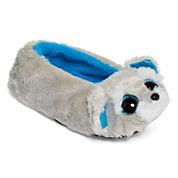 Girls Ballerina Whiskers-Gray Schnauzer Dog Slippers